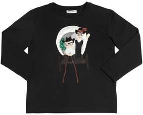 Dolce & Gabbana Cowboy Patch Cotton Jersey T-Shirt