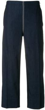 Cédric Charlier wide leg cropped trousers