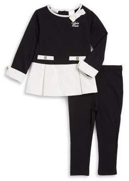 Calvin Klein Baby Girl's Two-Piece Colorblock Top and Pants Set