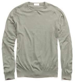 John Smedley Sweaters Hatfield Cotton Crewneck Sweater in Green