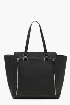 boohoo Zip Detail Structured Tote