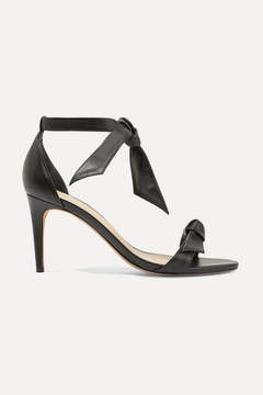 Alexandre Birman Patty Bow-embellished Leather Sandals - Black