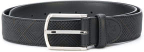 Canali tweed print buckle belt