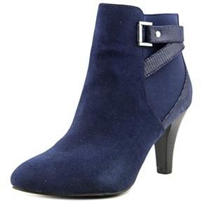 Karen Scott Majar Women Round Toe Canvas Blue Ankle Boot.