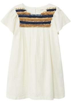 MANGO Sequins fringed dress