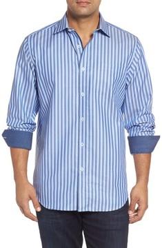 Bugatchi Men's Classic Fit Striped Sport Shirt