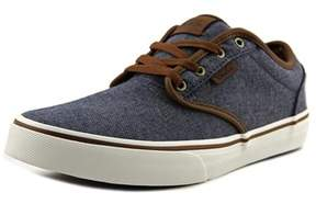 Vans Atwood Youth Round Toe Canvas Blue Skate Shoe.