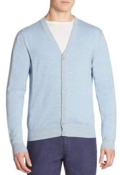 Saks Fifth Avenue COLLECTION Ribbed Button-Front Cardigan