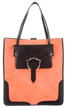 Edun Leather & Suede Tote