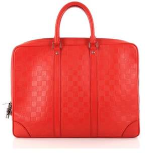 Louis Vuitton Pre-owned: Porte-documents Voyage Briefcase Damier Infini Leather.