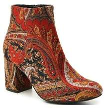 Diba Womens Brodie Fabric Almond Toe Ankle Fashion Boots.