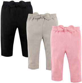 Hudson Baby Pink & Gray Joggers Set - Infant
