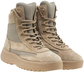 Yeezy Panelled High Top Sneakers