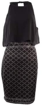 GUESS Women's Chiffon Popover Studded Dress (8, Black)