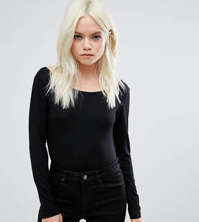Asos Scoop Back Body With Long Sleeves & Super 80s High Leg