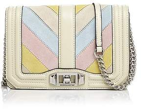 Rebecca Minkoff Love Small Multi-Color Leather Crossbody - PINK MULTI/SILVER - STYLE