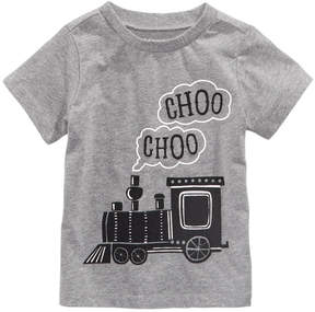 First Impressions Choo Choo-Print Cotton T-Shirt, Baby Boys (0-24 months), Created for Macy's