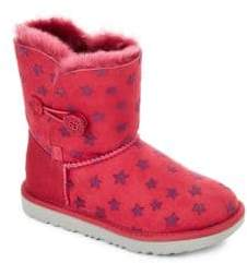 UGG Toddler's and Kid's Bailey Button Shearling Boots