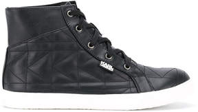 Karl Lagerfeld lace-up hi-top sneakers