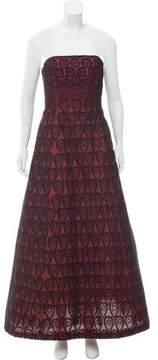 Carmen Marc Valvo Silk Evening Gown