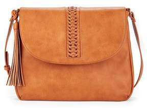 Sole Society Tara Stitch Detail Faux Leather Crossbody Bag