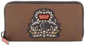 Christian Louboutin Women's Zip-Around Leather Wallet