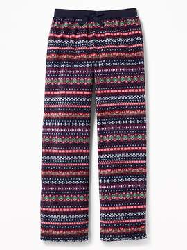 Old Navy Patterned Micro Performance Fleece Sleep Pants for Girls