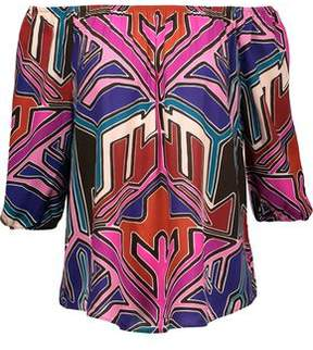 Tart Collections Petal Off-The-Shoulder Printed Broadcloth Top