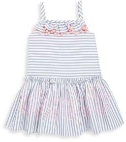Halabaloo Little Girl's & Girl's Striped Chambray Dress