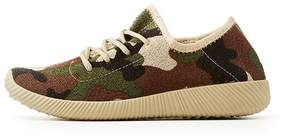 Charlotte Russe Qupid Camo Knit Lace-Up Sneakers