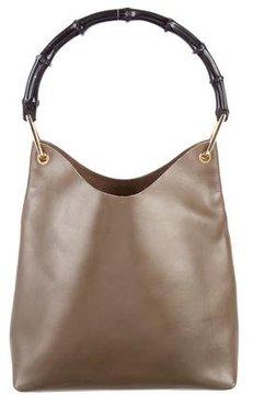 Gucci Vintage Bamboo Shoulder Bag - GREEN - STYLE
