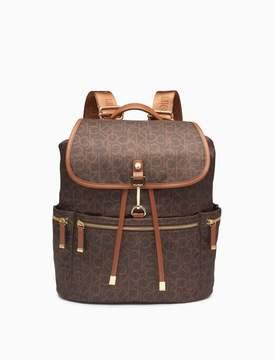 Calvin Klein monogram flap top backpack