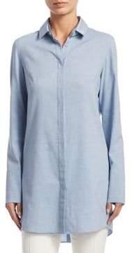 Akris Punto Long-Sleeve Cotton Tunic