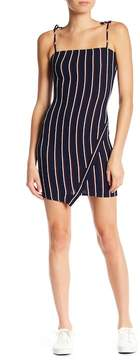 Dee Elly Striped Tie Strap Knit Mini Dress