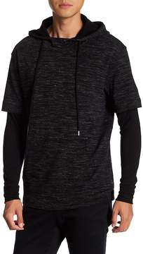 ATM Anthony Thomas Melillo Twofer Space Dye Hoodie