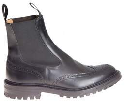 Tricker's Men's Black Leather Ankle Boots.