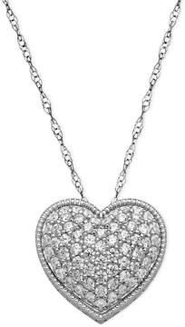 Arabella Sterling Silver Necklace, White Swarovski Elements Heart Pendant (2-1/8 ct. t.w.)