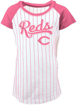 5th & Ocean Cincinnati Reds Pinstripe T-Shirt, Girls (4-16)