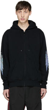Marcelo Burlon County of Milan Black Genek Zip Hoodie