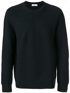 Closed ribbed knit jumper