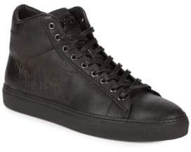 Roberto Cavalli Leather High-Top Sneakers