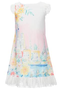 Us Angels Little Angels by Little Girls 2T-6X Chiffon Conversational Print Dress