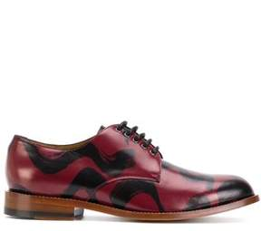 Vivienne Westwood Men's Black/red Leather Lace-up Shoes.
