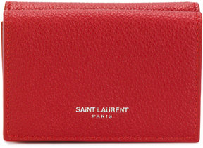 Saint Laurent Tiny Grained Leather Wallet - RED - STYLE
