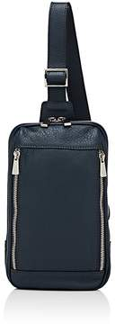 Barneys New York MEN'S LEATHER CROSSBODY MESSENGER BAG
