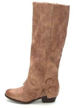 Not Rated Womens Bashful Fabric Almond Toe Knee High Cowboy Boots.