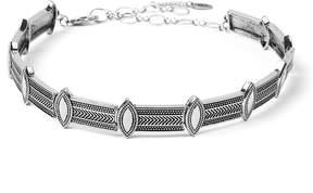 Amrita Singh Silvertone Geometric Choker Necklace