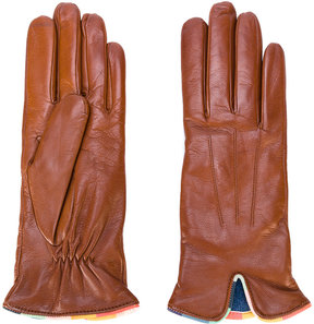 Paul Smith contrast trim gloves