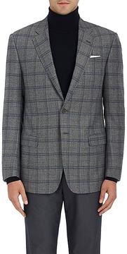 Giorgio Armani Men's Soft Plaid Wool-Silk Two-Button Sportcoat