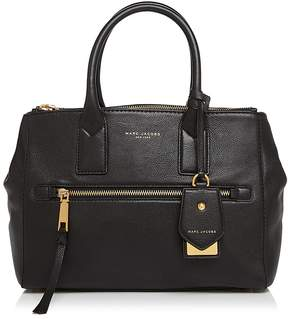 Marc Jacobs Recruit East/West Leather Tote - BLACK/GOLD - STYLE
